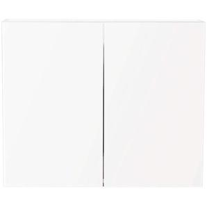 Spiegelschrank Basis (B/H) 75x62cm schwarz seidenglanz