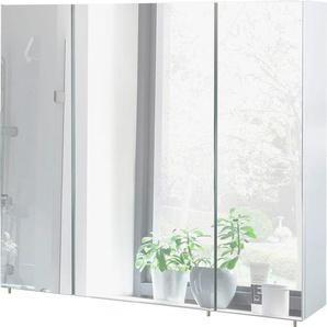Schildmeyer Spiegelschrank Breite 80 cm, weiß, »Basic«, FSC®-zertifiziert