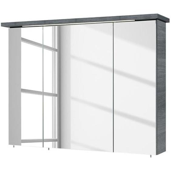 Pelipal Spiegelschrank Cesa Spanplatte Graphit 75x72x20 cm (BxHxT) Modern Beleuchtung