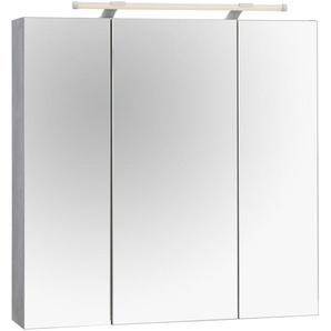 Schildmeyer Spiegelschrank  und Glaseinlegeböden, grau, »Dorina«