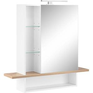 Spiegelschrank mit LED Beleuchtung, weiß, »GW-Novolino«, GERMANIA