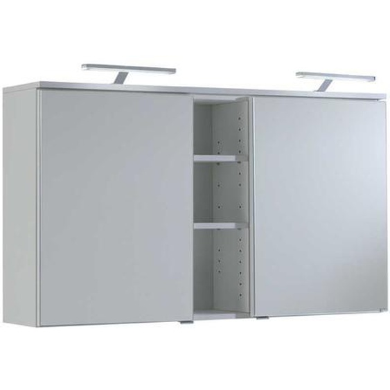 Spiegelschrank in Weiß 120 cm breit