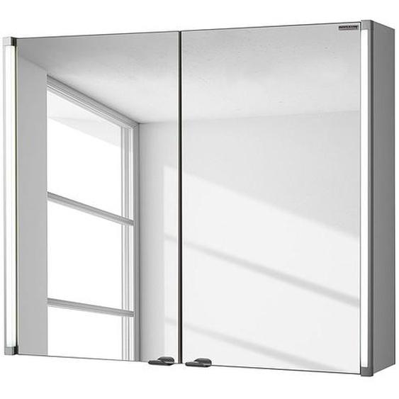 Fackelmann Spiegelschrank LED-Line Spanplatte Weiß 81x67x17 cm (BxHxT) Modern