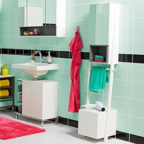 Spiegelschrank mit Handtuchhalterung »Vario-Look« - weiß - Holz -