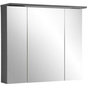 Schildmeyer Spiegelschrank  und Glaseinlegeböden »Profil 16«, grau