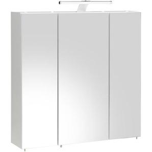 Schildmeyer Spiegelschrank  und 6 Glaseinlegeböden »Roma«, weiß