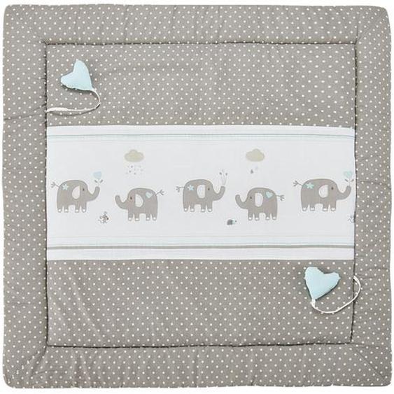 Spiel- und Krabbeldecke  Eli Elefant ¦ beige ¦ Bezug aus Webstoff (100% Baumwolle), Oberseite bedruckt, Füllung aus Polyestervlies (100% Polyester)