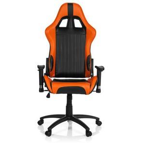 SPIELBERG II - Gamingstuhl Schwarz / Orange