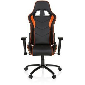 SPIELBERG III - Gamingstuhl Schwarz / Orange