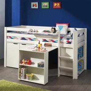 Spielbett Pino mit Schreibtisch, Regal und Kommde, 90 x 200 cm