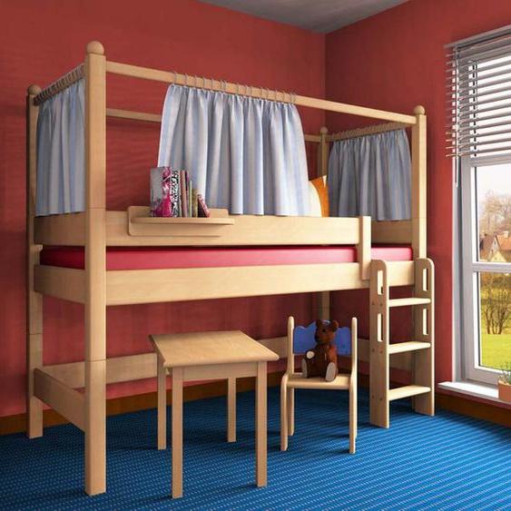 Spielbett Stockholm 1 Dahlhaus Buche weiß, natur, blau, schwarz, nussbaum
