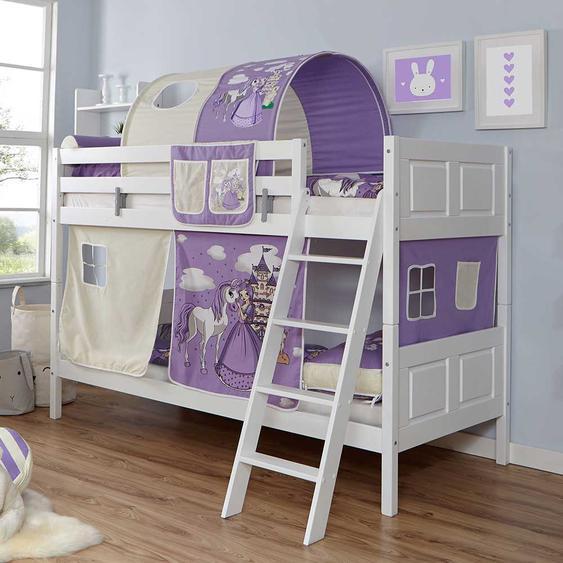 Spielhochbett im Prinzessin Design Tunnel und Vorhang