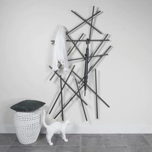 Spinder Design Garderobenleiste MATCHES, Breite 100 cm, Höhe 184 cm B/H/T: x 15 schwarz Diele Flur