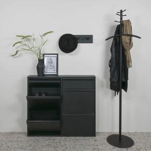 Spinder Design Schuhschrank Billi, Breite 98 cm B/H/T: x 86 15 schwarz Schuhschränke SOFORT LIEFEERBAR Diele Flur
