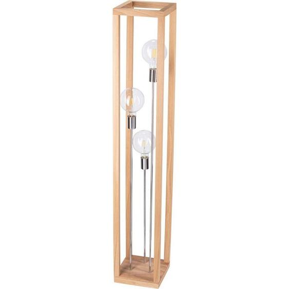 SPOT Light Stehlampe »KAGO«, Naturprodukt aus Eichenholz, Nachhaltig mit FSC®-Zertifikat, passende LM E27, Made in EU