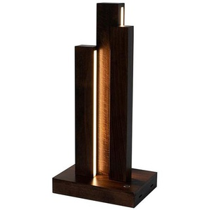 SPOT Light Tischleuchte »Manhattan«, mit integriertem 24V-LED-Modul, mit Touch Dimmer und Textilkabel, aus edlem Holz, Naturprodukt FSC®-zertifiziert, Made in Europe