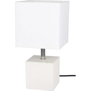 SPOT Light Tischleuchte »STRONG«, Basis aus weißem Beton, Textilschirm, Naturprodukt - Nachhaltig, Made in EU