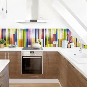 PVC Spritzschutzpaneel Azriel Rainbow Cubes