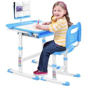 Sross Kinderschreibtisch »Kinderschreibtisch Schreibtisch Verstellbare Neigung Kinderschreibtisch mit Stuhl«