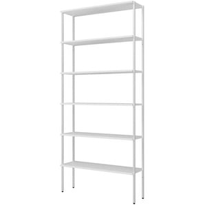 Stahl Standregal in Weiß 100 cm breit