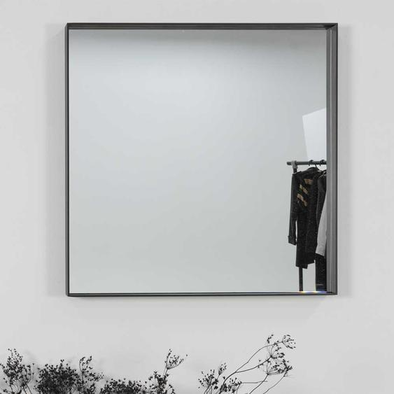 Stahl Wandspiegel in Schwarz 60 cm breit