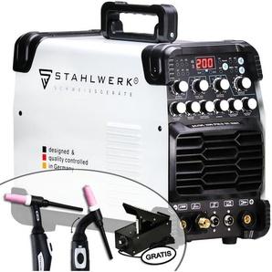 STAHLWERK AC/DC WIG 200 Puls ST, Schweißgerät mit 200 Ampere WIG & MMA, viele Schweißparameter einstellbar, ALU & Dünnblech geeignet, 7 Jahre Garantie*