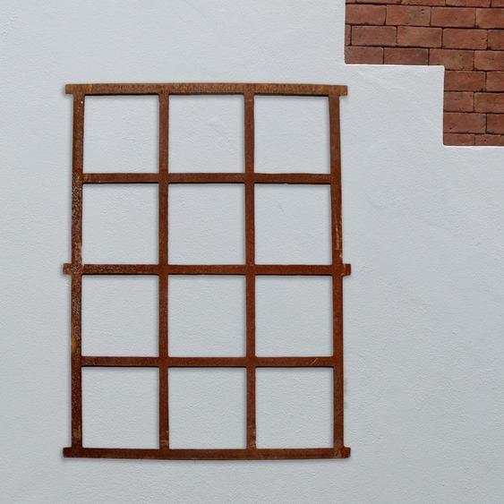 Stallfenster, Rostig, Bauernfenster, Eisenfenster, Gartenmauer 95 x 73