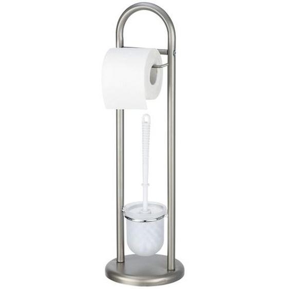 Stand WC-Garnitur  Siena - silber - Kunststoff | Möbel Kraft