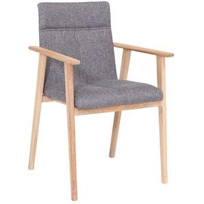Standard Furniture Arona Armlehnstuhl Grau/Eiche Bianco