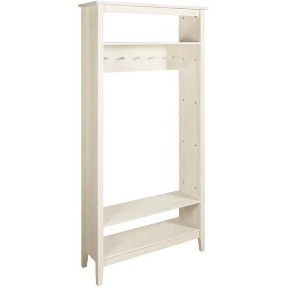 Standgarderobe aus Massivholz ca. 180/90/30 cm weiß Kompaktgarderoben Garderoben