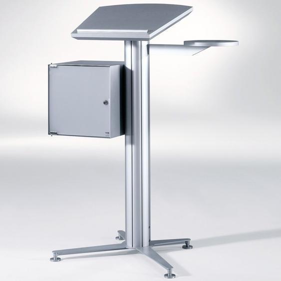 STANDINGS Rednerpult System mit Arbeitsplatte silber, b55xt55xh118,5cm