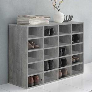 Standregal in Beton Grau Schuhe