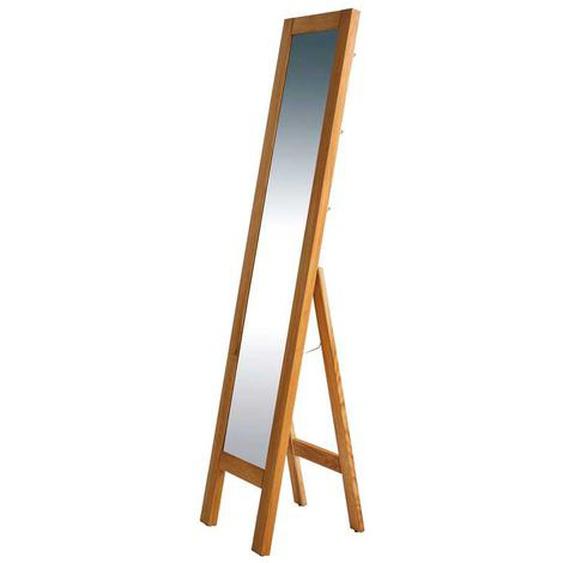 Standspiegel aus Wildeiche Massivholz ausklappbar