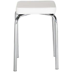 Stapelhocker - weiß - 36 cm - 49 cm - 36 cm | Möbel Kraft