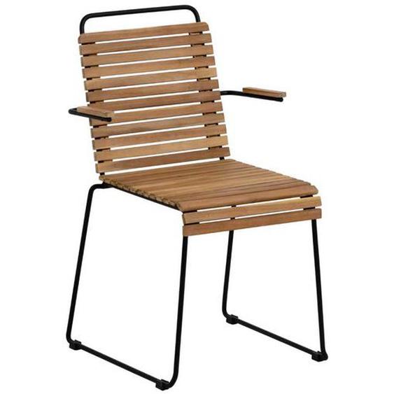 Stapelstühle aus Akazie Massivholz und Stahl innen und außen geeignet (2er Set)