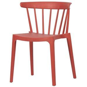 Stapelst�hle in Rot Kunststoff (2er Set)