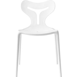 Stapelstuhl , weiß, 4 Stück, zeitloses Design, »Area 51 CB/1042«, , , connubia by calligaris