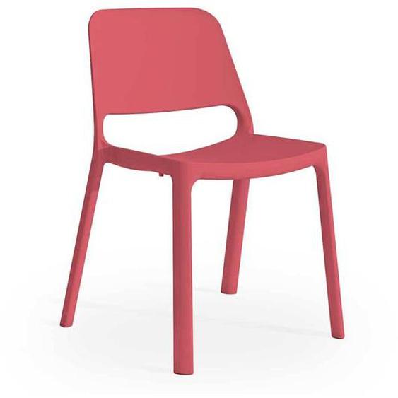 Stapelstuhl in Pink Kunststoff Made in Germany