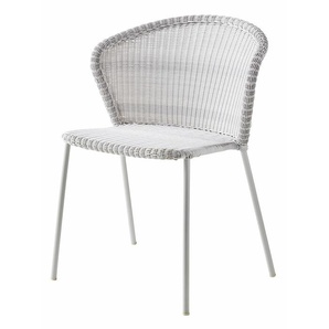 Stapelstuhl Lean Cane-line grau, Designer Hee Welling, Gudmundur Ludvik, 80x59x43 cm
