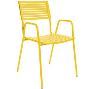 Stapelstuhl mit Armlehnen Lamello Schaffner AG gelb, Designer Schaffner, 87x54x60 cm