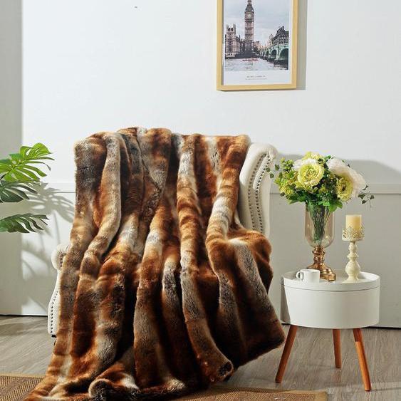 Star Home Textil Wohndecke Zobel, aus besonders weichem Webpelz B/L: 150 cm x 200 braun Kuscheldecken Decken