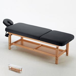 Stationäre Profi-Massageliege Holz 2 Zonen 225 cm COMFORT | Farbe: Schwarz - BODYLINE - HEALTH AND MASSAGE
