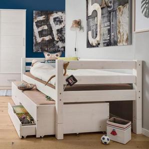 Kinderbett 90x200 cm, Kiefer gelaugt geölt, weitere Farben & Größen bei BETTEN.de