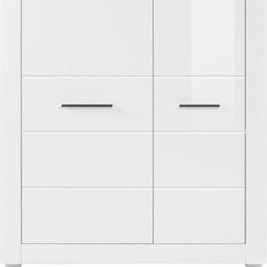 Stauraumschrank Höhe 142 cm, weiß, FSC-Zertifikat, »BIANCO«, , , FSC®-zertifiziert,
