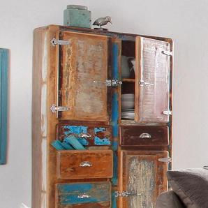 Stauraumschrank »Fridge«, 90 x 190 x 40 BxHxT cm, mehrfarbig, Material Holz, SIT-Möbel
