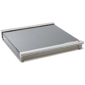 Steba Warmhalteplatte WP 1, Erweiterbar bis zu 5 Modulen, 2-stufige Temperaturregelung (75/120°C), Stabile Glasoberfläche, Superflache Bauweise, Platzsparende Aufbewahrung, Schwarz/Chrom
