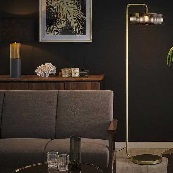 Stehlampe gold / schwarz 158 cm HENLEY