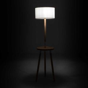 Stehlampe in Buchefarben und Weiß Skandi Design