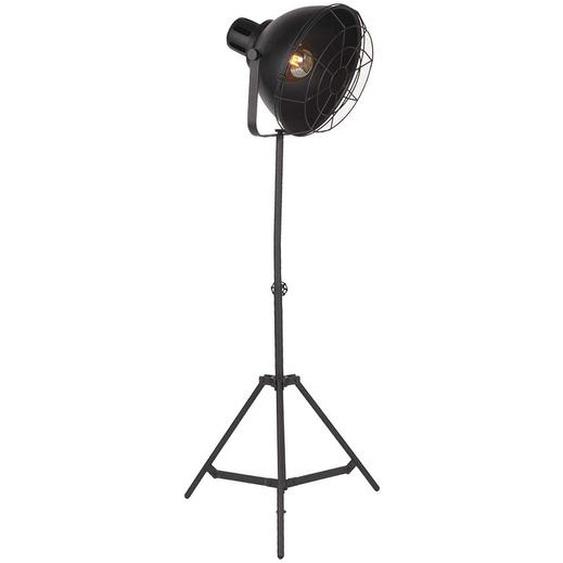 Stehlampe in Schwarz 170 cm hoch