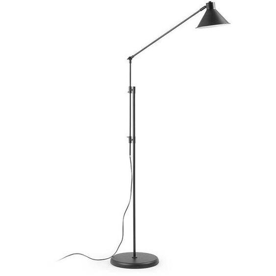 Stehlampe in Schwarz 220 cm hoch
